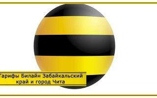 Тарифы Билайн Забайкальский край и город Чита 2020 год