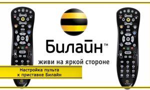 Настройка пульта Билайн ТВ – инструкция на русском