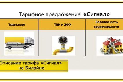 Тариф «Сигнал» Билайн: описание
