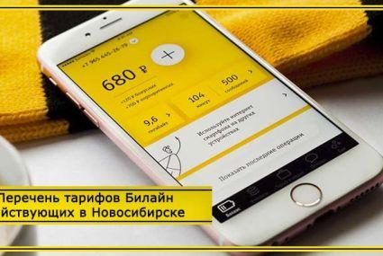 Обзор тарифов Билайн в Новосибирске в 2020 году