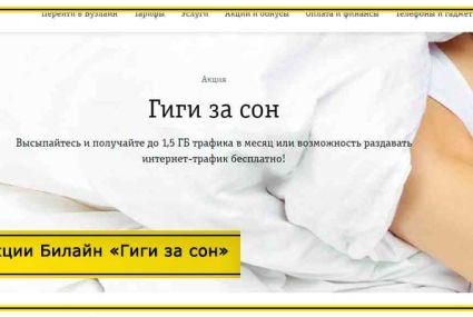 Акции Билайн «Гиги за сон» и «Гиги за детокс» – условия и как стать участником