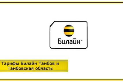 Тарифы Билайн Тамбов и Тамбовская область в 2020 году