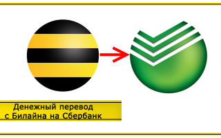Перевод денег с телефона Билайн на карту Сбербанка: способы