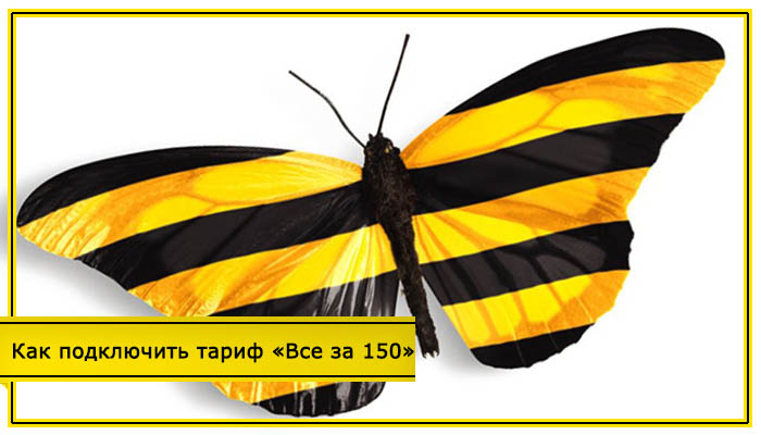 тарифы билайн всё за 150 рублей в месяц