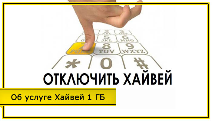 как отключить услугу хайвей 1 гб за 7 рублей в сутки на билайне