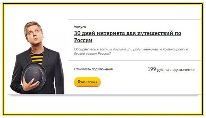 билайн интернет по россии на 7 дней как подключить