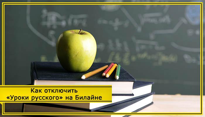 билайн уроки русского как отключить